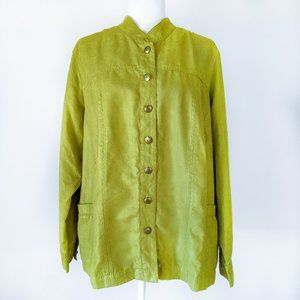 Multiples Women's Lightweight Green Jacket